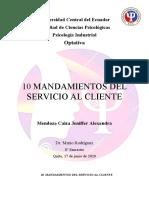 10 Mandamientos del Servicio al Cliente