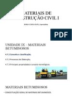 aula 09 20151119 - Materiais Betuminosos