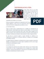 Análisis critico sobre LA INDEPENDENCIA EN EL PERU