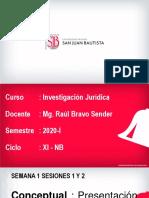 Investigación Jurídica Semana 1 Sesiones 1 y 2