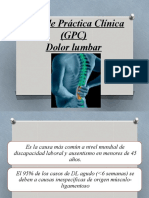 Guía de Práctica Clínica DOLOR LUMBAR