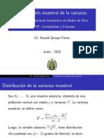 distribución muestral de la varianza