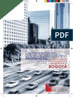 2014Mar20 Determinantes del valor del suelo urbano residencial