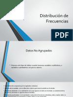 Distribución de Frecuencias y Medidas de tendencia Central