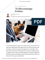 How Not To Micromanage Remote Workers