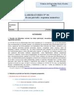 Laboratorio 04 - Redacción de un párrafo-esquema numérico-1