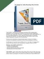 Topaz DeJPEG 4.0.1 plugin for Adobe Photoshop Win 32-64-bit