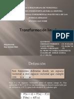 Algebra Lineal - Transformación lineal