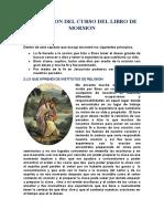 ASIGNACION DEL CURSO DEL LIBRO DE MORMON.morelia