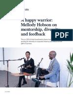 A happy warrior Mellody Hobson on mentorship diversity and feedback