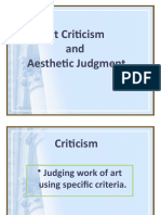 L4 Art Criticism and Aesthetic Judgment