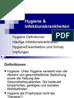 Hygiene - Infektionen
