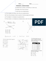 Special Angles Worksheet