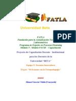Proyecto Capacitación docentes Universidad Beta Panama Fase I
