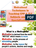 Motivational Techniques in Teaching TLE Courses final