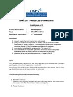 Assignment (Marketing Plan)
