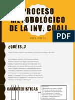 PROCESO METODOLOGICO DE LA INV. CUALITATIVA
