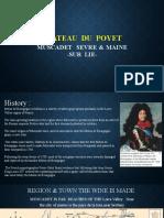 CHATEAU  du  Poyet prezentare