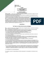 Loi n°94-036 du 18 Septembre 1995 sur la propriété litteraire et artistique