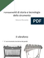 Fondamenti di storia e tecnologia dello strumento