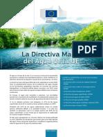 Directiva Marco Agua Unión Europea
