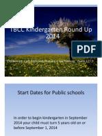 TBCC Kindergarten Round Up 2014