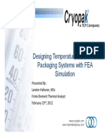 Designing Temperature-Controlled Packaging Systems With FEA Simulation