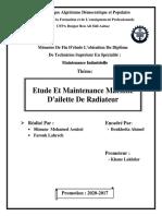 Mémoire fin Etude Et Maintenance Machine D'ailette De Radiateur ... SLimane Mohamed Aouissi.pdf
