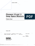 Pioneers 10 and 11 Deep Space Missions