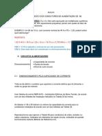 AULA 6 - DIMENSIONAMENTO DOS CONDUTORES DE ALIMENTAÇÃO DE MI