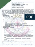 Acara Ibadah Kesucian Orahili 19 April 2020