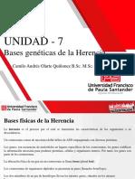 UNIDAD 7_Bases Genéticas de la Herencia