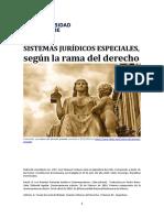 Unidad 3. Recurso 1. Sistemas jurídicos especiales, según la rama del derecho
