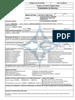 AC-005-04 Planilla de Registro para TRATAMIENTO DE DESVÍOS