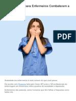 Dicas Simples para Enfermeiros Combaterem a Ansiedade