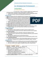 Economics - Topic 1 (Introduction to Economics)