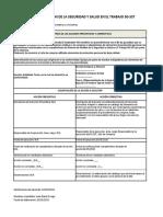 Propuesta escrita de acciones preventivas y correctivas a no conformidad detectada.