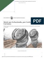 Morir por la hacienda, por Carlos Contreras Carranza Columnistas _ El Comercio Perú