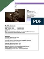 CV Violinist Template