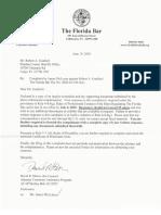 BAR Response for COMPLAINT Against Pinellas Sheriff Bob Gualtieri