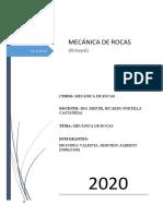 MECANICA DE ROCAS.
