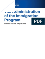 Student administration immigration program