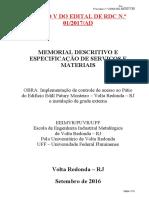 Anexo V RDC 01-2017 -MEMORIAL E ESPECIFICAÇÕES-R3.doc