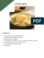 Macarrão com molho de limão siciliano