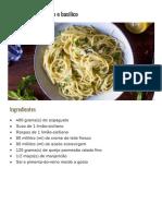 Spaghetti ao limone e basilico