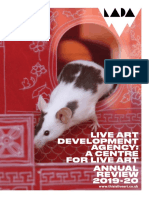 Live Art Development Agency's Annual review 2019/20