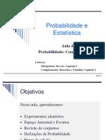 Aula 4 - Probabilidade conceitos básicos - Parte 1
