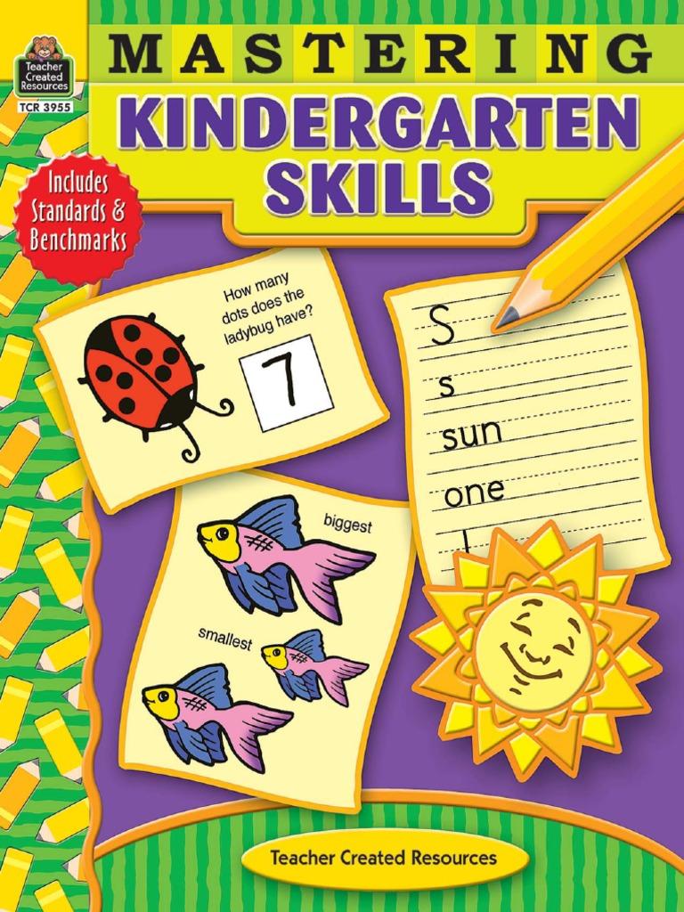 Mastering Kindergarten Skills Pdf Natural Number Community Kindergarten worksheets reading skills22