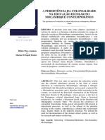 A PERSISTÊNCIA DA COLONIALIDADE NA EDUCAÇÃO ESCOLAR.pdf