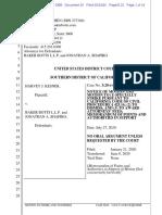 Baker Botts Motion to Strike against Harvey Kesner 6.24.20